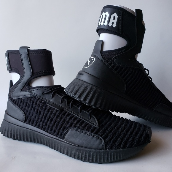 low priced 9704e eb5b5 New Puma Fenty Rihanna Trainer Mid Black Wmns 9.5 NWT